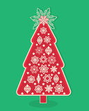 Graphic design christmas tree. Lots of different elements Stock Images