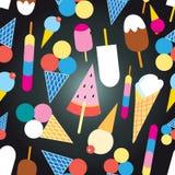 Graphic design colorful ice cream Stock Photo