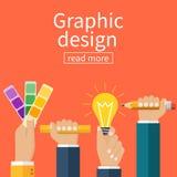 Graphic design concept. royalty free illustration