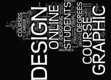 Graphic Design Course Text Background  Word Cloud Concept. GRAPHIC DESIGN COURSE Text Background Word Cloud Concept Stock Images
