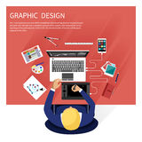 Graphic design and designer tools concept Stock Image