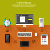 Graphic design and designer tools concept Royalty Free Stock Photography
