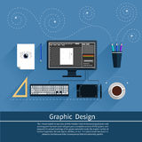 Graphic design and designer tools concept Stock Photography