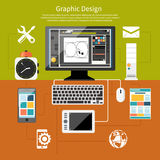 Graphic design and designer tools concept Stock Photo