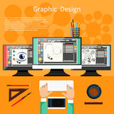 Graphic design and designer tools concept Stock Images