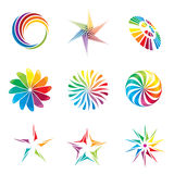 Graphic Design elements. A set of colorful graphic design elements Stock Photos