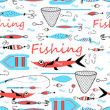 Graphic design elements for fishing Stock Photography