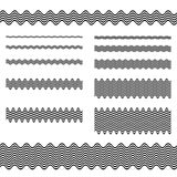 Graphic design elements - page divider line set. Graphic design elements - wave line page divider set Royalty Free Stock Photos