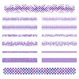 Graphic design elements - purple divider line set. Graphic design elements - purple circle design page divider line set Royalty Free Stock Photos