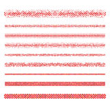 Graphic design elements - red page divider lines. Graphic design elements - red circle mosaic page divider line set Stock Photos