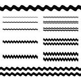 Graphic design elements - wave line divider set. Graphic design elements - asymmetrical wave line page divider set Royalty Free Stock Photo