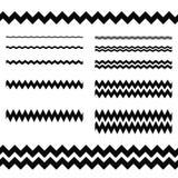 Graphic design elements - zigzag line divider set. Graphic design elements - zigzag line page divider set Stock Images