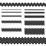 Graphic design elements - zigzag line divider set Royalty Free Stock Photo