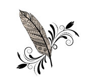 Graphic design feather vector illustration