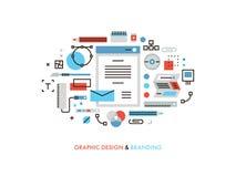 Graphic design flat line illustration Stock Photos