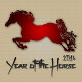 Graphic design Horse Year in China related Stock Photography