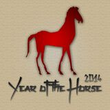 Graphic design Horse Year in China related. Graphic design Horse Year related Stock Photo