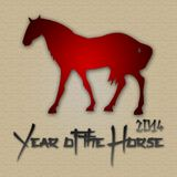 Graphic design Horse Year in China related Royalty Free Stock Photo