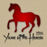 Graphic design Horse Year in China related Royalty Free Stock Photography
