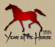 Graphic design Horse Year in China related Royalty Free Stock Photos