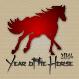 Graphic design Horse Year in China related. Graphic design Horse Year related Royalty Free Stock Photography