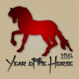Graphic design Horse Year in China related. Graphic design Horse Year related Stock Photography