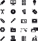 Graphic design icon set Royalty Free Stock Image