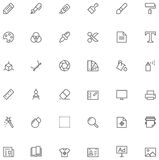 Graphic design icon set Stock Photography