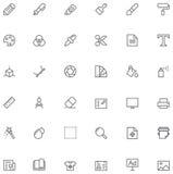 Graphic design icon set Stock Photography