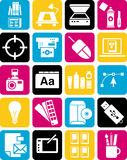 Graphic design icons. This is a collection of graphic design icons Royalty Free Stock Photography
