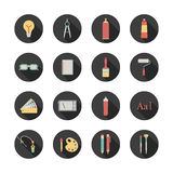 Graphic design icons. Set of round graphic design icons Royalty Free Stock Images