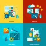 Graphic Design Icons Flat Royalty Free Stock Photos
