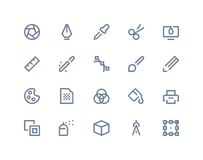 Graphic design icons. Line series royalty free illustration