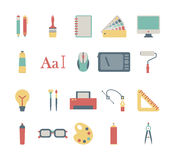 Graphic design icons. Set of colorful graphic design icons Stock Images