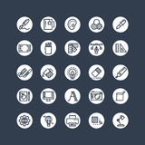 Graphic design icons - tools, office stationery. Creative line icons. Vector illustration Royalty Free Stock Photography