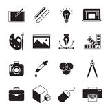 Graphic Design icons. Graphic and web design line icons Stock Image