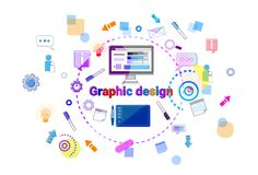 Graphic Design Idea Concept Creative Process Web Development Programming Banner. Web Design Idea Concept Creative Process Web Development Programming Banner Royalty Free Stock Photos