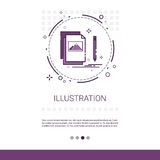 Graphic Design Illustration Development Computer Programming Technology Banner With Copy Space royalty free illustration