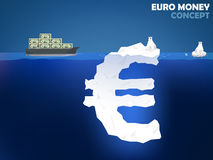 Graphic design illustration of euro money Stock Photos