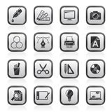 Graphic Design industry icons Royalty Free Stock Images