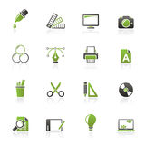 Graphic Design industry icons Stock Photography