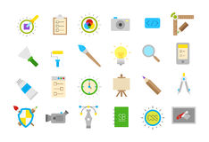 Graphic design isolated  icons set. Set of 24 graphic design isolated  icons Royalty Free Stock Photos