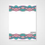 Graphic design letterhead with hand drawn ornament Stock Image