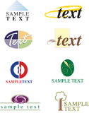 Graphic Design/Logo Elements. Set of stylized designs that can be used to create business cards, logos, or stylized pages. Fully editable vector format Stock Images