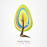 Graphic design logo tree  icon Royalty Free Stock Photography