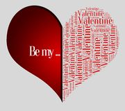 Graphic design love or Valentine's Day related Stock Photography