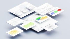 Graphic design mockup on white background 3d illustration. Graphic design mockup 3d illustration Stock Image