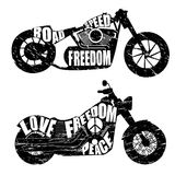 Graphic design of motorcycles. Black and white graphic design of motorcycles. logo. vector Stock Photo
