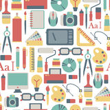 Graphic design pattern. Seamless pattern with graphic design icons Stock Images
