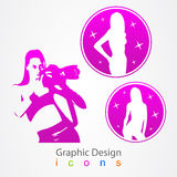 Graphic design photographer and model icon Royalty Free Stock Photos
